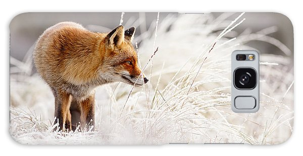 Winter Galaxy Case - Red Fox And Hoar Frost _ The Catcher In The Rime by Roeselien Raimond