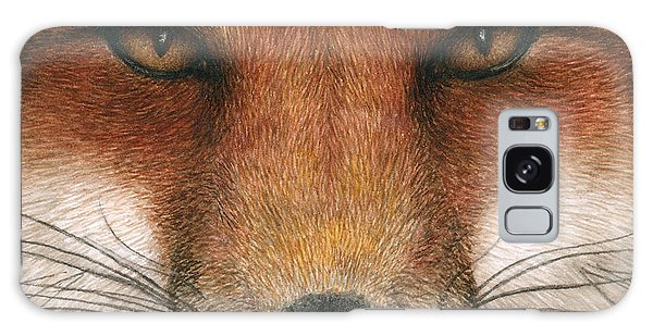 Red Fox Gaze Galaxy Case