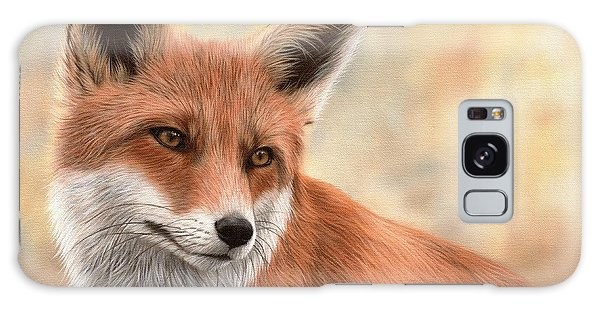 Red Fox Painting Galaxy Case