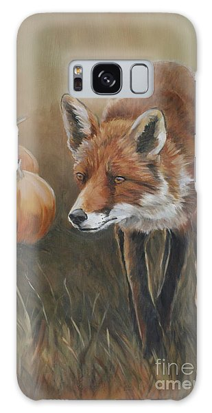 Red Fox With Pumpkins Galaxy Case