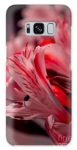 Red Freesia Galaxy Case by Adria Trail