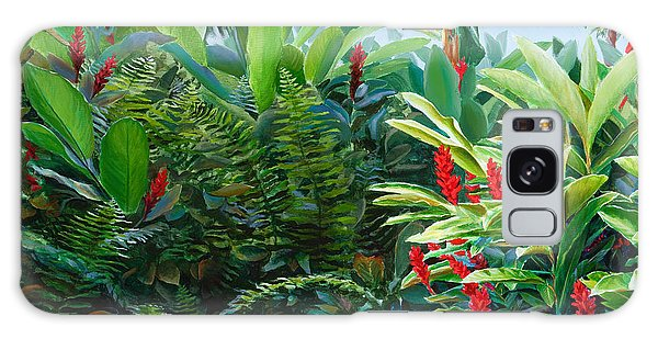 Red Garden Hawaiian Torch Ginger Galaxy Case