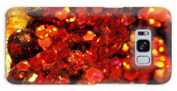 Red Glitter Pomagranite Galaxy Case