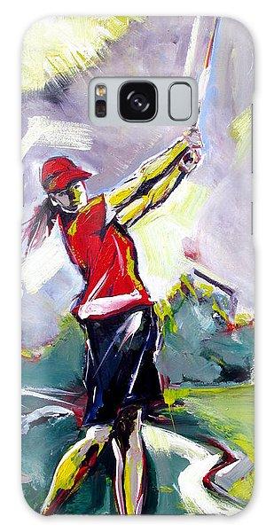 Red Golf Girl Galaxy Case