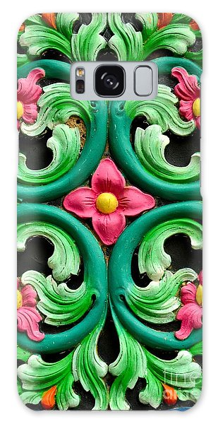 Red Green And Blue Floral Design Singapore Galaxy Case