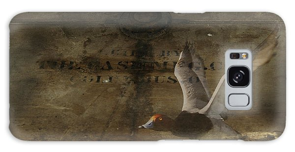 Red Head Duck Old Box Galaxy Case by Randall Branham