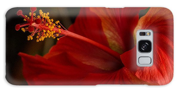 Red Hibiscus 4 Galaxy Case