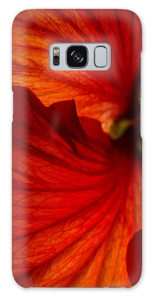 Red Hibiscus 6 Galaxy Case