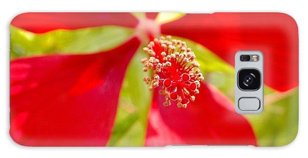 Red Hibiscus Flower Galaxy Case