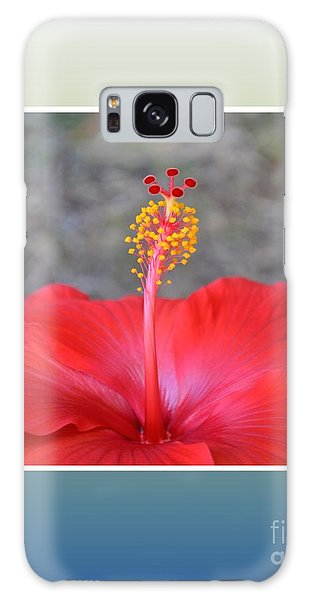 Red Hibiscus-v3 Galaxy Case by Darla Wood