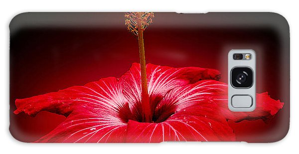 Red Hibiscus Tropical Flower Galaxy Case