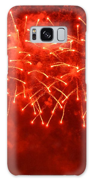 Red Hot Fireworks Galaxy Case by Darla Wood