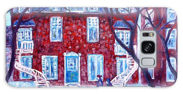 Red House In Montreal - Cityscape Galaxy Case