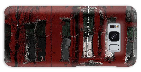Water Droplets Galaxy Case - Red House Reflections by Gilbert Claes