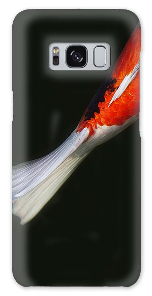 Red Koi Tail Down Vertical Galaxy Case