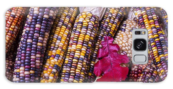 Indian Corn Galaxy Case - Red Leaf And Indian Corn by Garry Gay