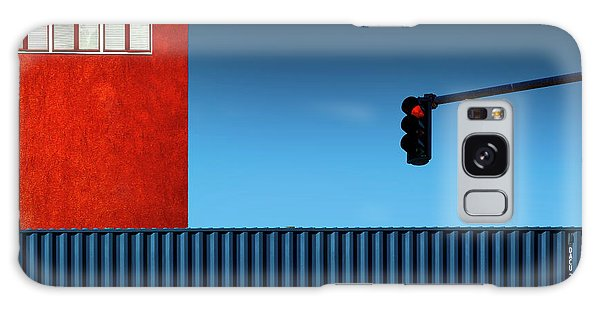 Window Galaxy Case - Red Light by Inge Schuster