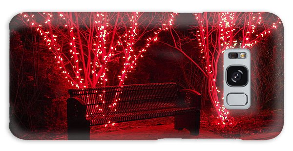 Red Lights And Bench Galaxy Case