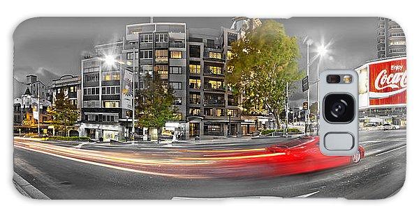 Colours Galaxy Case - Red Lights Sydney Nights by Az Jackson