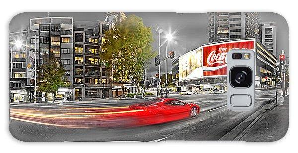 Red Lights Sydney Nights Galaxy Case by Az Jackson
