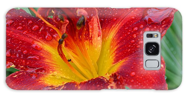 Red Lily After The Rain Galaxy Case