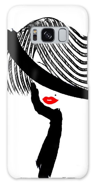 Red Lips Galaxy Case