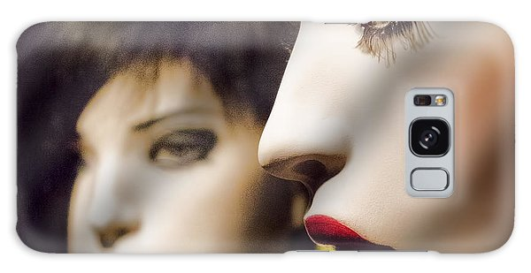 Red Lips - Black Heart Galaxy Case