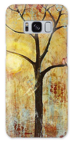 Rustic Galaxy Case - Red Love Birds In A Tree by Blenda Studio