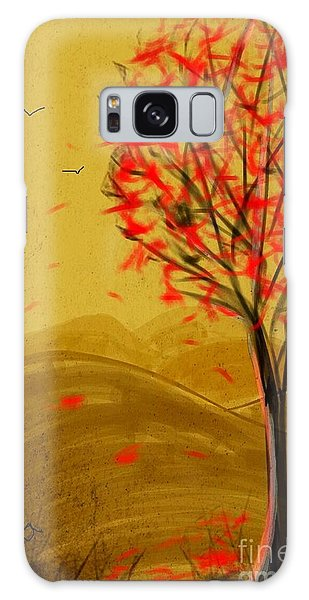 Red Maple  Galaxy Case by Judy Via-Wolff
