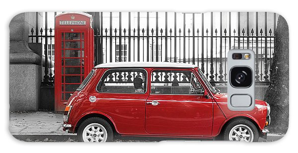 Red Mini Cooper In London Galaxy Case