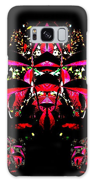 Red Mosaic Galaxy Case by Aliceann Carlton