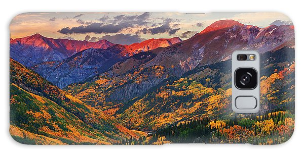 Red Mountain Pass Sunset Galaxy Case