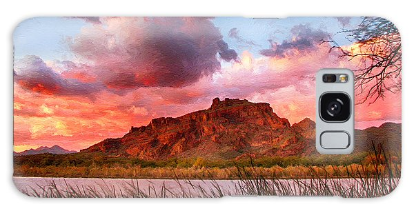 Red Mountain Sunset Galaxy Case