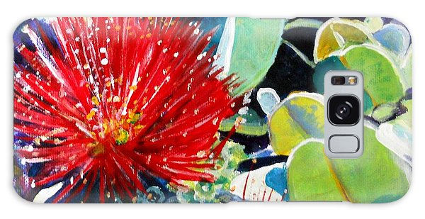 Red Ohia Lehua Flower Galaxy Case