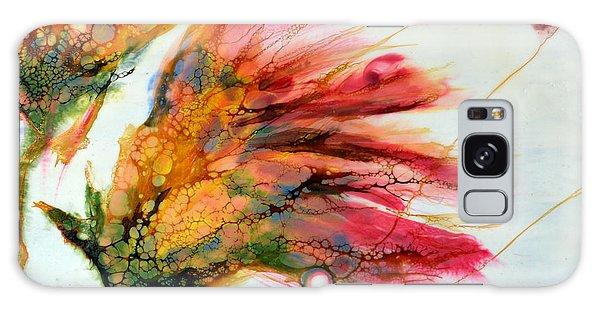 Red Orange Flowers Galaxy Case