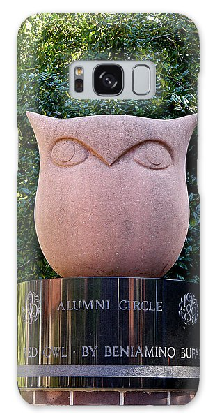 Red Owl At Temple Galaxy Case by Richard Reeve