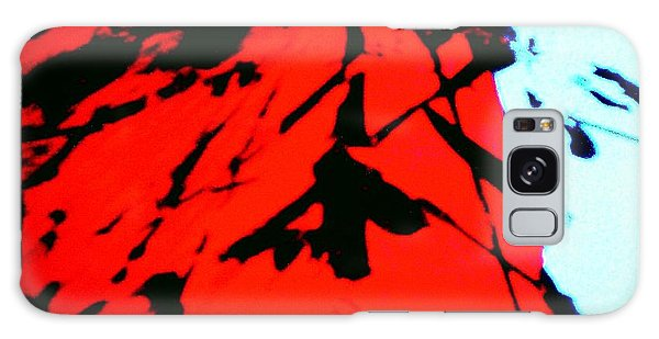 Red Owl Watching Over Me Galaxy Case by Jacqueline McReynolds