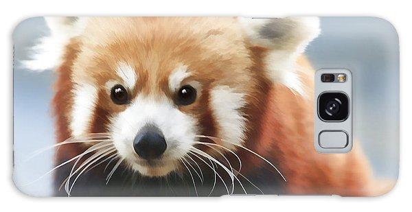 Red Panda Staring Galaxy Case