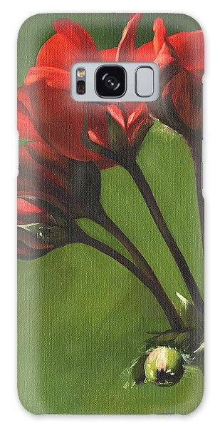 Red Pelargonium Galaxy Case