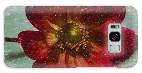 Red Petal Sketch Galaxy Case by Terry Cork