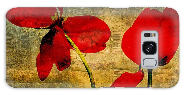 Blossoms Galaxy Case - Red Petals by Bernard Jaubert