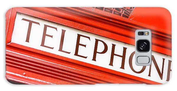 Red Phone Box Galaxy Case