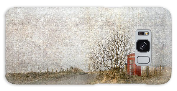 Red Phone Box Galaxy Case by Liz  Alderdice