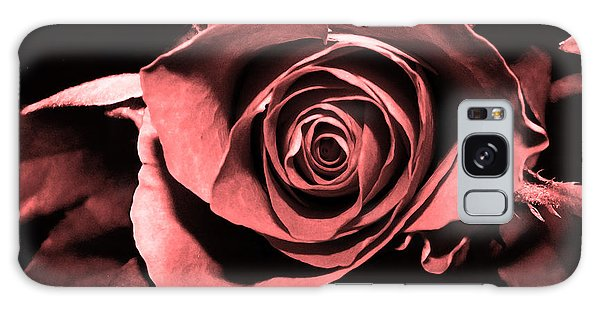 Red Pink Rose  Galaxy Case
