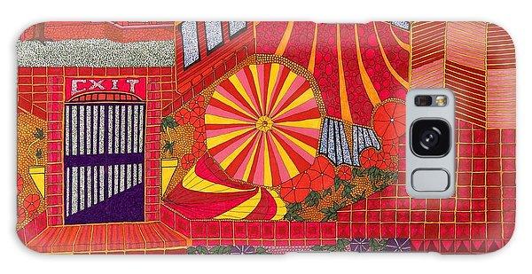 Red Pinwheel Galaxy Case