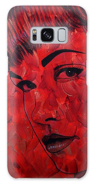 Red Pop Bettie Galaxy Case by Malinda Prudhomme