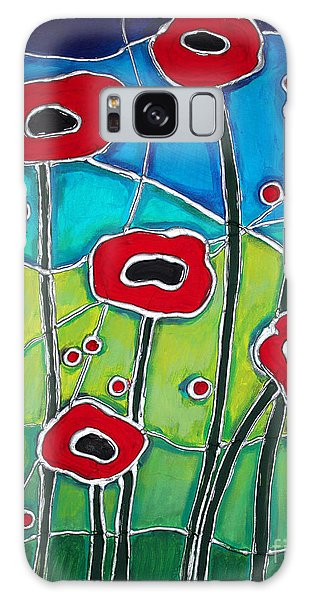 Red Poppies 1 Galaxy Case by Cynthia Snyder