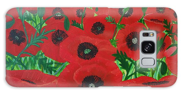 Red Poppies 1 Galaxy Case