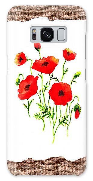 Country Living Galaxy Case - Red Poppies Decorative Collage by Irina Sztukowski