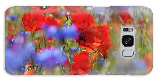Galaxy Case featuring the photograph Red Poppies In The Maedow by Heiko Koehrer-Wagner